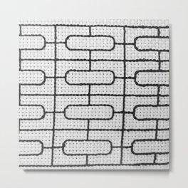 Vintage Window Grille Cross Stitch Pattern #7 Metal Print