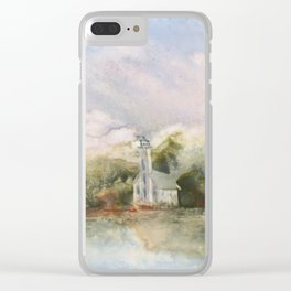 East Channel Lighthouse Clear iPhone Case