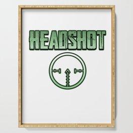 Headshot online internet game shooter gamer fan gift idea Serving Tray