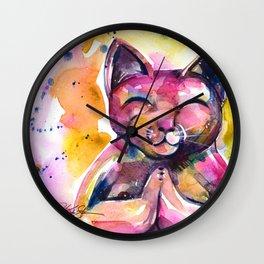 Buddha Cat No. 11 Wall Clock