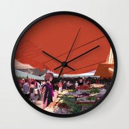 At a market in Taipei Wall Clock
