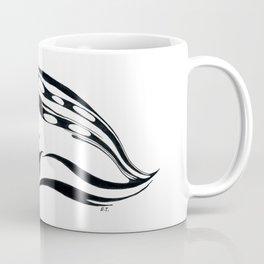 Angry Cat Tabby Tribal Tattoo Ink Coffee Mug