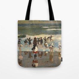Beach Scene - Winslow Homer  Tote Bag