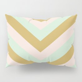 v lines - mint mocha Pillow Sham