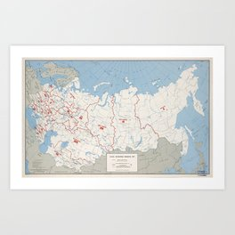 Map of U.S.S.R., Economic Regions (1971) Art Print