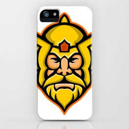 Thor Norse God mascot iPhone Case