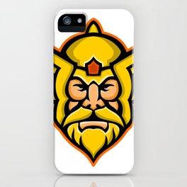 Thor Norse God mascot iPhone Case