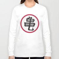dragonball z Long Sleeve T-shirts featuring Turtle School of Martial Arts Kanji, Dragonball Z by Larsonary