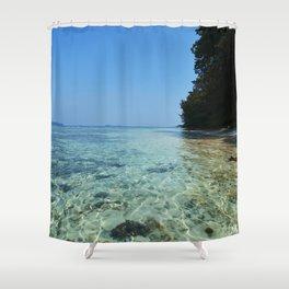 Pulau Vibes vers.2 Shower Curtain