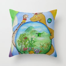 Blue Stone Throw Pillow
