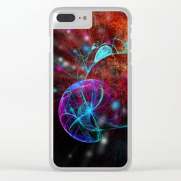 Ammonite emerging from space Clear iPhone Case