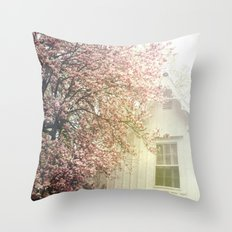 Cottage and Magnolias Throw Pillow