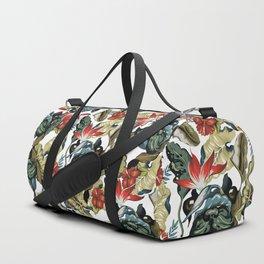 Tropical Frenchie Duffle Bag