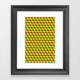 Cubed - Rasta Framed Art Print
