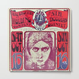 1966 Avalon Ballroom Big Brother and the Holding Company Vintage Concert Advertising Poster Metal Print