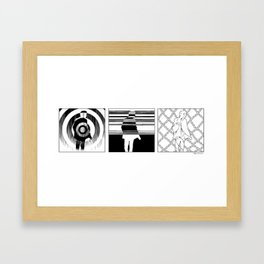 Lost in the pattern Framed Art Print