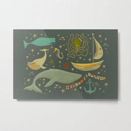 Raggedy Ocean Metal Print