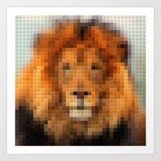 Lego Lion Art Print