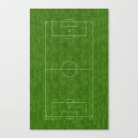 soccer Canvas Prints featuring Soccer by Dino cogito