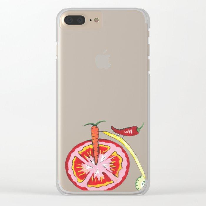 Veggie Bike Clear iPhone Case
