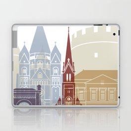 Metz skyline poster Laptop & iPad Skin