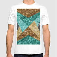 Marble Texture G426 White Mens Fitted Tee MEDIUM