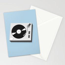 Turntable Illustration Stationery Cards
