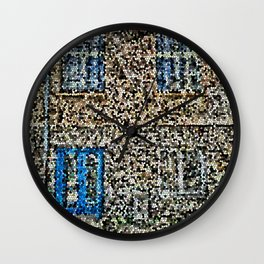 crystalized facade Wall Clock