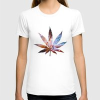 marijuana T-shirts featuring Marijuana Leaf - Design 2 by Spooky Dooky