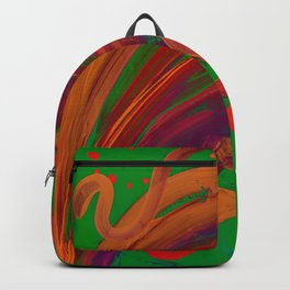 Abstract Brush Strokes Backpack