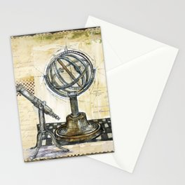 """Astrolabe, 1"" - by Fanitsa Petrou Stationery Cards"