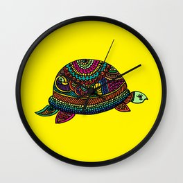Rainbow Turtle Wall Clock