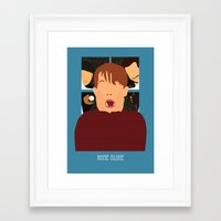 home alone Framed Art Prints featuring home alone by Live It Up