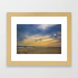 Quiet Beach Framed Art Print
