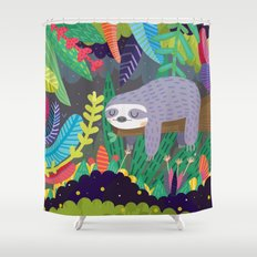 Sloth in nature Shower Curtain