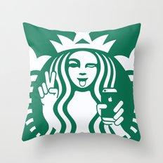 Selfie - 'Starbucks ICONS' Throw Pillow