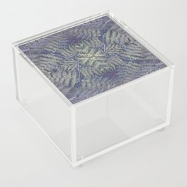 SYMMETRICAL PASTEL PURPLE BRACKEN FERN MANDALA Acrylic Box