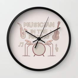 Musician in the Making Wall Clock