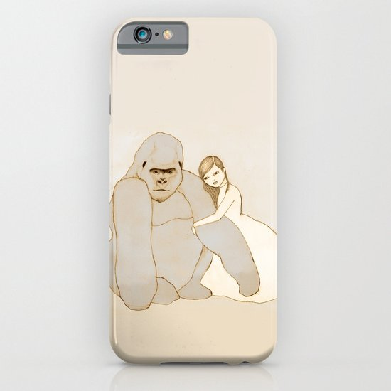 Gorilla and Girl iPhone & iPod Case