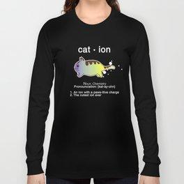 Biology Anime Cat Ion Kitty Kitten Chemistry Gift Long Sleeve T-shirt
