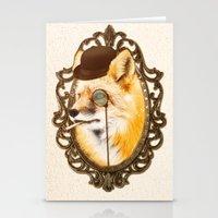 mr fox Stationery Cards featuring Mr Fox by mattdunne
