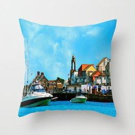 Swanage Sea View Throw Pillow