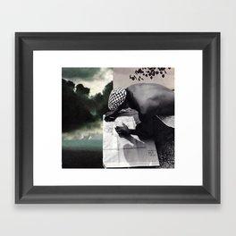 written in the clouds Framed Art Print