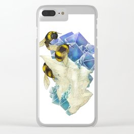 Bees on Fluorite Clear iPhone Case