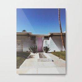 The Pink Door - Palm Springs Metal Print