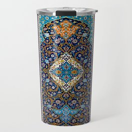 Orintal Persian Floral Mosaic Art Travel Mug