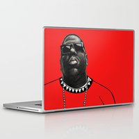 biggie smalls Laptop & iPad Skins featuring BIGGIE by amanda balboa