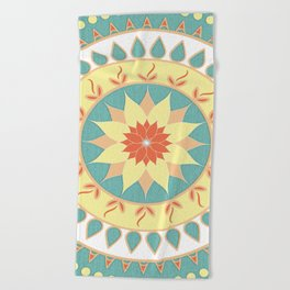 Mother Natures Mandala Beach Towel