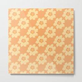Tickseed Flower Pattern Edit work Metal Print
