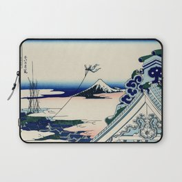 "Hokusai (1760-1849) ""Asakusa Hongan-ji temple in the Eastern capital [Edo]"" Laptop Sleeve"